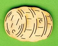 Holz-Deko Faß 4cm