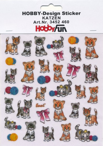Hobby-Design Sticker Katzen