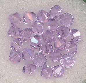 Swarovski Glasschliffperlen 4mm violett
