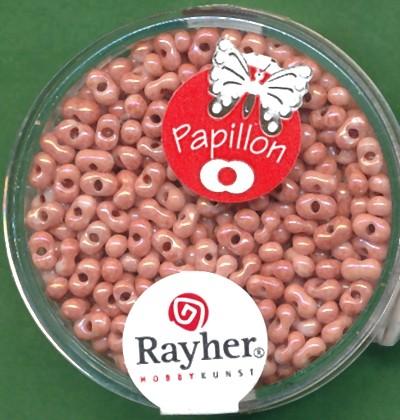 Papillon-Rocailles 2x4mm englisch rosa
