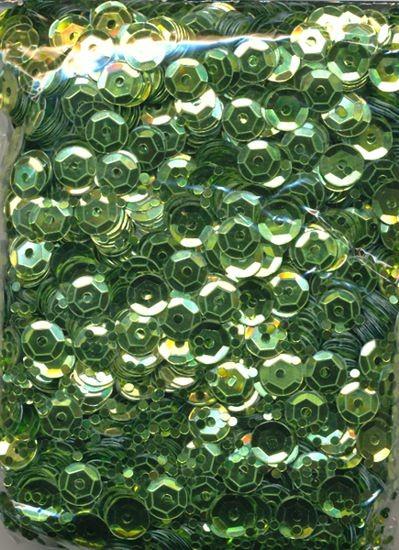 Pailletten gewölbt 6mm hellgrün