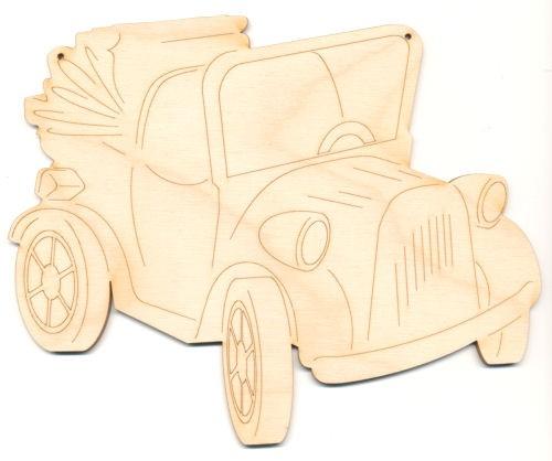 Holz-Deko Oldtimer 20cm