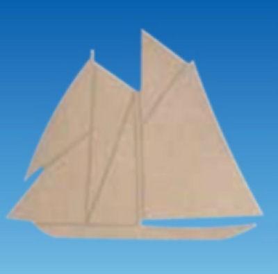 Holz-Dekor Segelschiff 20x25x0,5cm