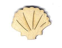 Holz-Deko Shell 4cm