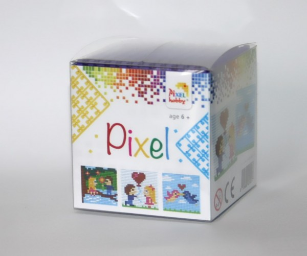 Pixelset 3 kleine Basisplatten Love