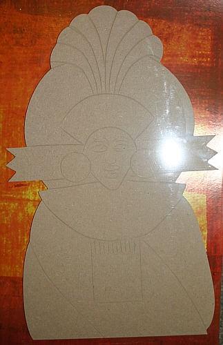 Holz-Dekor Ethno Maske 3