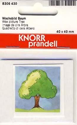 Wachsbild Baum 4x4cm