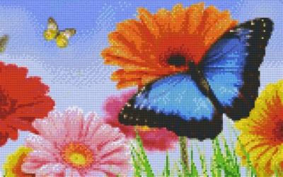 808109_Pixelset-Blumen-mit-Schmetterlinge