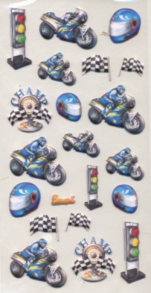 Creapop Sticker Motorrad