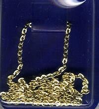 Ankerkette 0,7mm x 60cm vergoldet