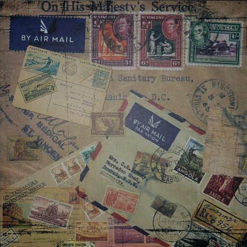 Scrapbook-Blatt Air Mail