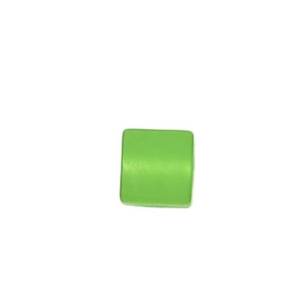 Polariswürfel Großloch hellgrün matt 6x6mm