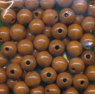 Holzperlen 10mm hellbraun