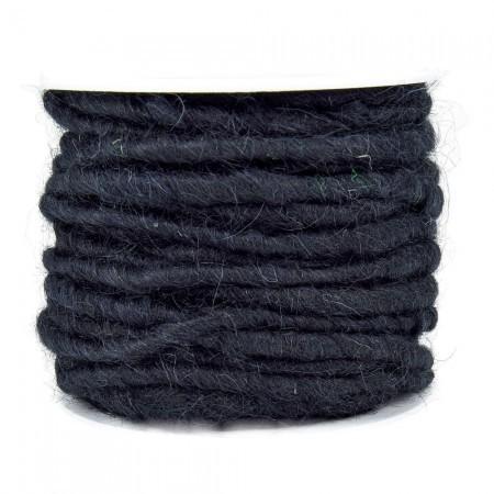 Wollschnur 5mm schwarz