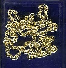 Ankerkette 1,0mm x 60cm vergoldet