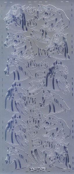 Sticker Pferde4 silber