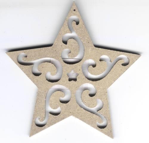 Holz-Dekor Stern klein