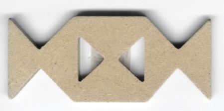 Holz-Dekor Ornament mit Dreieck