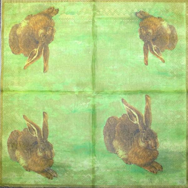39570_Serviette-Dürer-Hase-gelb