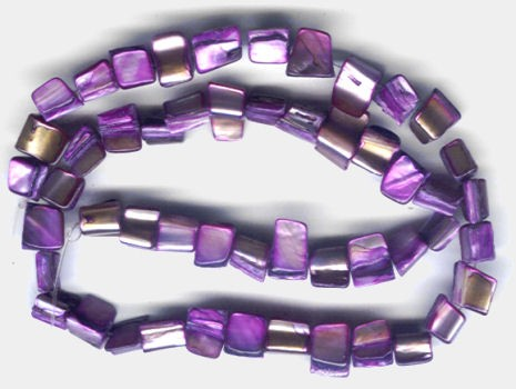 Muschelschalenperlen hell lila