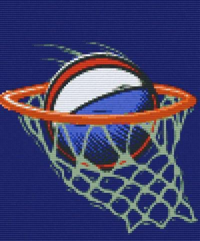 806127 Pixelhobby Set Basketball mit 6 Platten