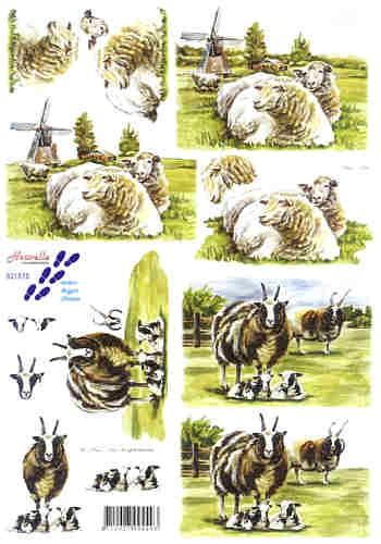 Motivbogen Schafe