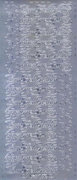 Sticker Zum Geburtstag 2 silber