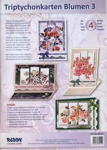 Triptychonkarten Blumen 3