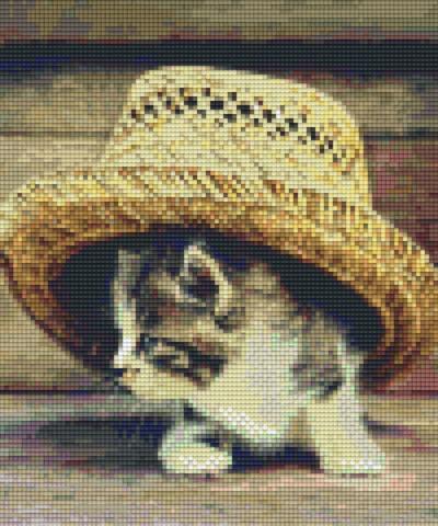 806156 Pixelhobby Set Katze unter Hut mit 6 Platten