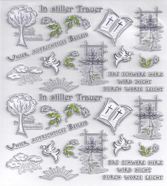 hf3452378 Hobby-Design Sticker In stiller Trauer