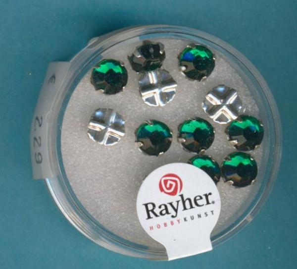Strasssteine 6mm smaragd 12 Stück