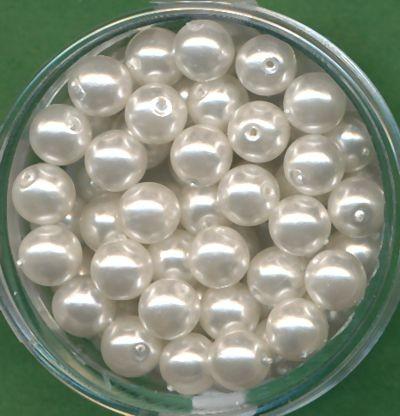 Wachsperlen 6mm weiß