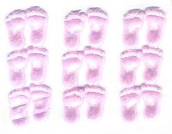 Wachsdekor Füße Mädchen rosa