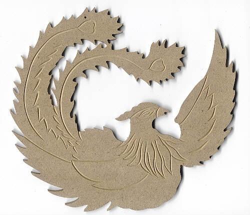 Holz-Dekor Paradiesvogel groß