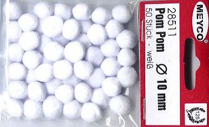 Pom Pom 10mm weiß