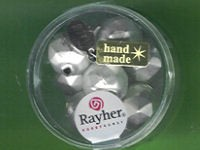 Glas-Rautenperlen 13mm weiß matt