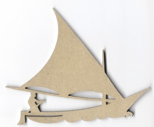 Holz-Dekor Boot