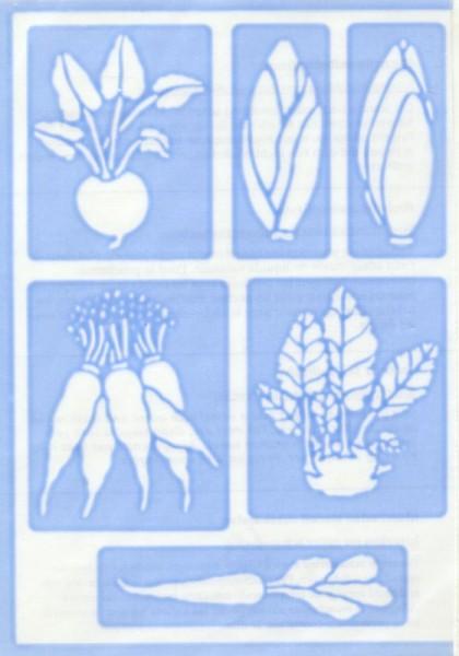 Haftschablone Gemüse 2