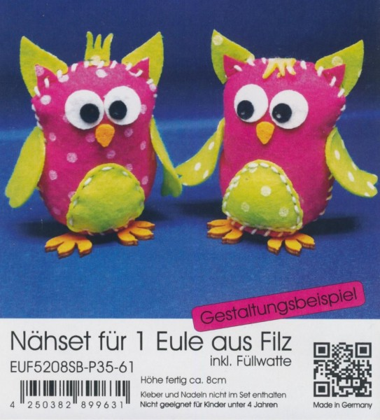 euf5208sbp3561_Filz-Nähset-Eule-klein-pink-apfelgrün