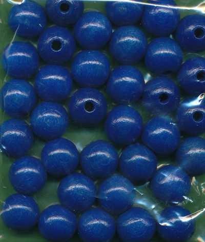Holzperlen 12mm blau