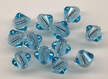 Swarovski Glasschliffperlen 6mm aqua