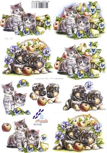 Motivbogen Katzen- und Hundebabys