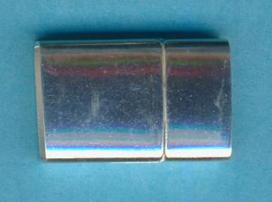 Magnetverschluss silber 23x17x7mm