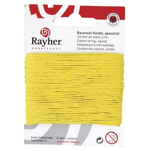 Baumwollkordel 1mm gelb