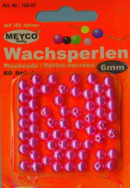 Wachsperlen 6mm pink