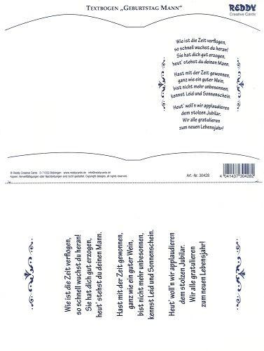 Bookatrix Textbogen Geburtstag Mann