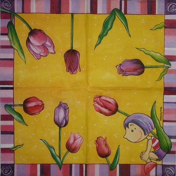 Serviette Tulpenmädchen