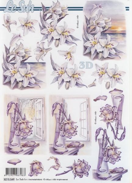 Motivbogen Blumen Kondolenz III