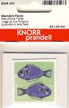 Wachsbild Fische 4x4cm