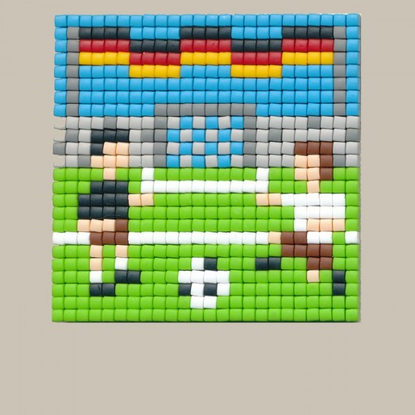 Set kleine Basisplatte Fußballer